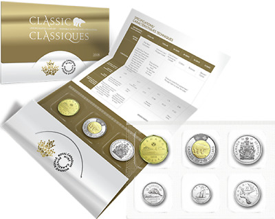 2018 6-Coins Classic Canada Uncirculated Set: $2 $1, 50cent 25cent 10cent 5cent.