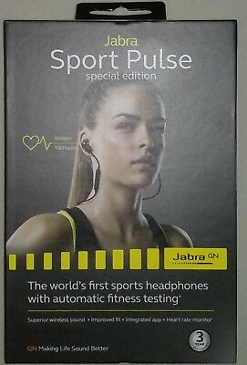 Jabra Sport Pulse Special Edition Wireless In-Ear Headphones (Black) 🇦🇺Stock..