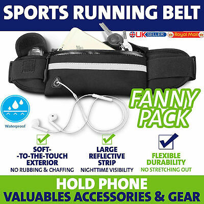 Unisex Running Jogging Waist Belt Wallet Bum Bag Cash Pouch Keys Sports Mobile
