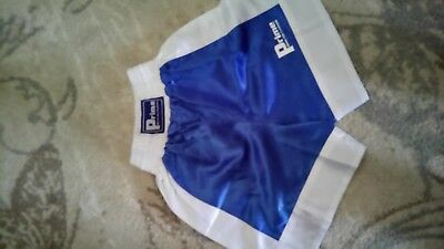 Prime Blue and White Boxing Shorts, unused, 13-14yrs