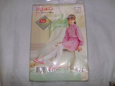 New Agacci Girls Opaque Tights Yellow Large  8 - 11   ( 8 9 10 11 )