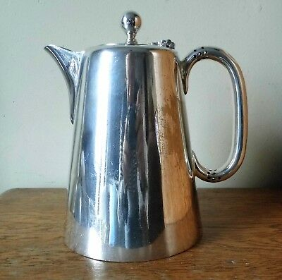 LOVELY LARGE ANTIQUE 1900-09 Fattorini & Sons SILVER PLATED 2 Pint COFFEE POT
