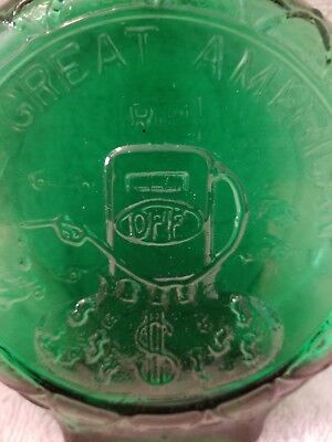 CLEVENGER BROTHERS?GREEN LIMITED EDITION # 0331 GAS OIL Hand Blown