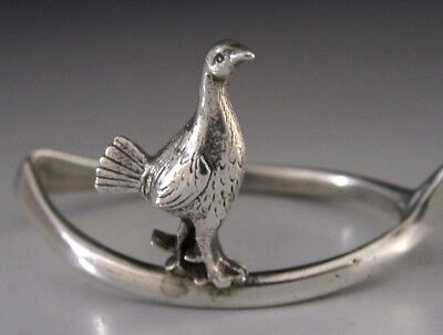 English Sterling Silver Grouse & Whishbone Napkin Ring Novelty 1977