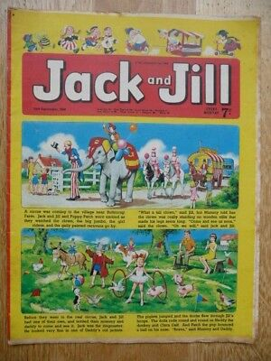 Collectible Jack and Jill Vintage Children's Comic - 13th Sept, 1969