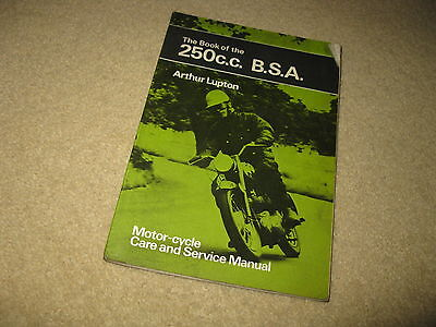 BSA Motorcycle Workshop Maintenance Service Manual Book 250cc Pitman's Handbook