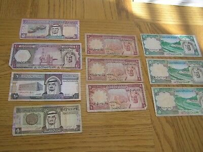Lot of 10 Saudi Arabia paper money