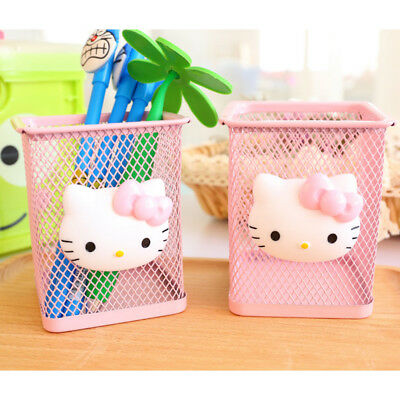 Pen Holder Metal Storage Case Box Manage Student Stationery School Office Supply