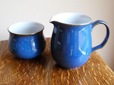 Denby Imperial Blue Milk Jug and Sugar Bowl