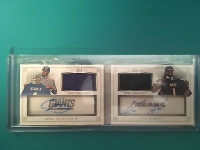 2015 National Treasures Odell Beckham Jr Kevin White