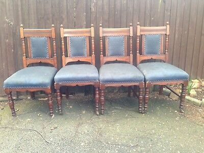 4 antique dining chairs Edwardian style