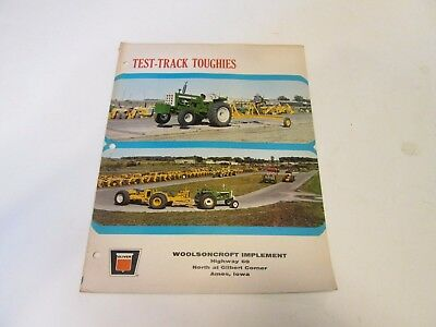 OLIVER 1950 GM,1850,1750,1250,1650 TRACTORS 8 page foldout sales brochure 1968