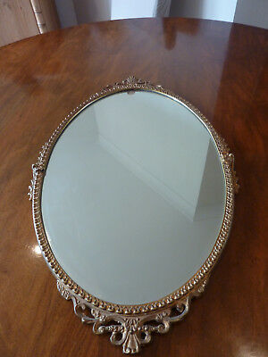A Period Oval Mirror 54 Cms By 32Cms
