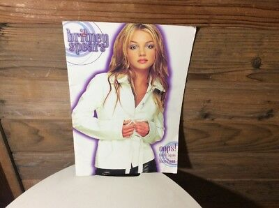 """Britney Spears 2000 Tour Program OOPs! I Did It Again 11x16"""""""