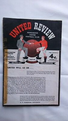 **Manchester United vs Sheffield Weds 1957/58, FA Cup 19/2/1958. Munich Match***