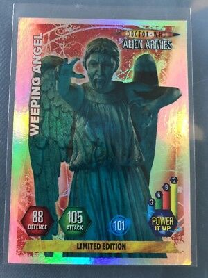 Doctor Who Alien Armies Limited Edition Trading Card Weeping Angel