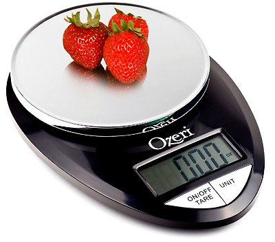 Pro Digital Kitchen Food Scale, 1g to 12 lbs Capacity, in Stylish Black NEW