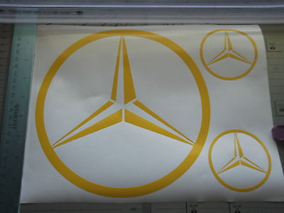 MERCEDES logo  large sticker   X3 PIECE