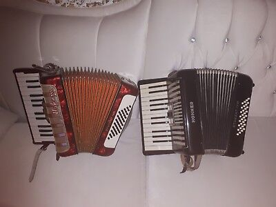 hohner student iv m + iv n zwei akkordeon +koffer no paypal