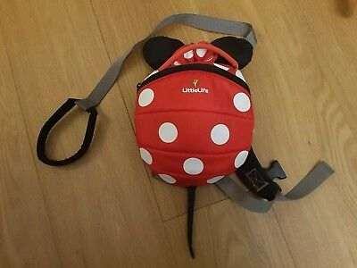 LittleLife Toddler Child Minnie Mouse Reins Backpack