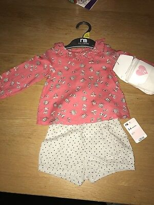 Baby Girl Mothercare Outfit Set 3-6 Months BNWT RRP £20