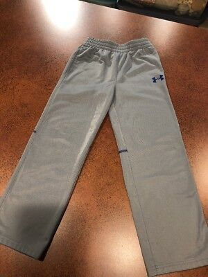 Boys Under Armour Pants Size 6  Gray With Blue Logo