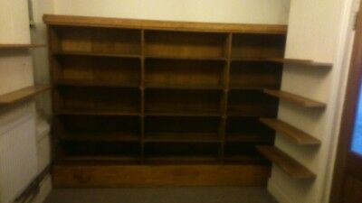 solid oak bookcase shop fitting