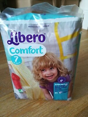 1 Pack of Libero Comfort Nappies - Size 7 – 16-26kg - 21 Nappies - NEW