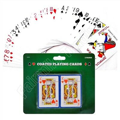 2 Packs of Playing Cards Coated Poker Gambling Gaming Snap Deck Kings Queens Ace