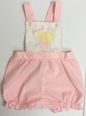 Adorable!! Baby Girl's 12 - 18 Months Vintage Romper Outfit VGUC