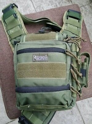 Maxpedition Colossus OD Green INKL. Janus Extension + Single Sheath - TOPzustand