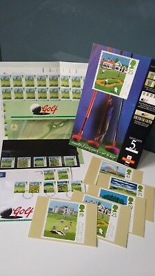 Rare Collection Of 1994 Uk Open Golf Courses Stamps Sheet Cards Fdc Poster