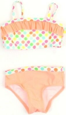 Op Baby Girls 2 Piece Swimsuit SIZE 12 Months Coral Pink Green Bikini