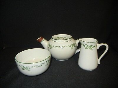 ANTIQUE 1880's STAFFORDSHIRE POTTERY TEAPOT SUGAR CREAM RARE DUNN BENNETT & Co