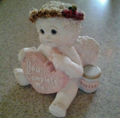 DREAMSICLES Cherub Figurine YOU COMPLETE ME Puzzle by Kristin 2002