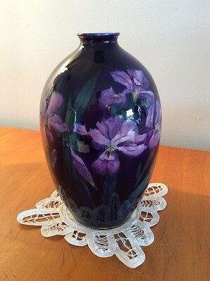 BEAUTIFUL RARE Antique George Jones Imperial England Amethyst Iris Vase MUST SEE