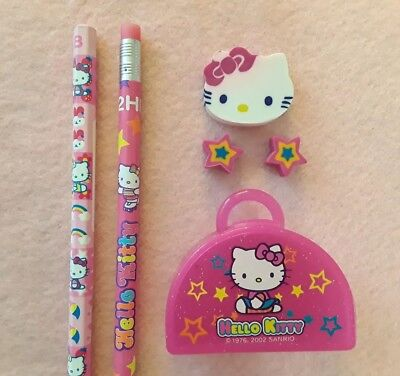 Hello Kitty Erasers and Pencils Set Vintage