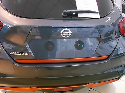 New 2017 Nissan Micra K14 Trunk/tailgate lower finisher in Orange