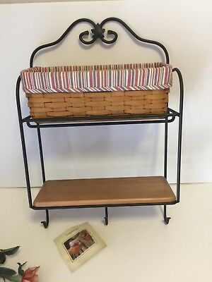 Longaberger Wrought Iron Envelope Rack, shelf, basket Combo