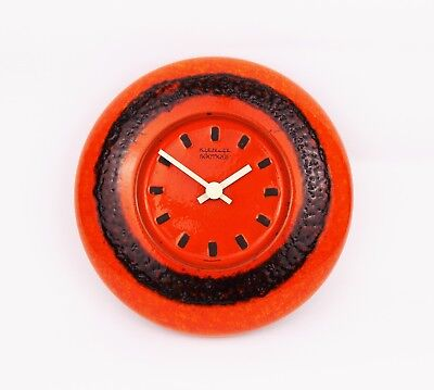 Vintage 1970s Kienzle Boutique Ceramic Wall Clock Retro Design