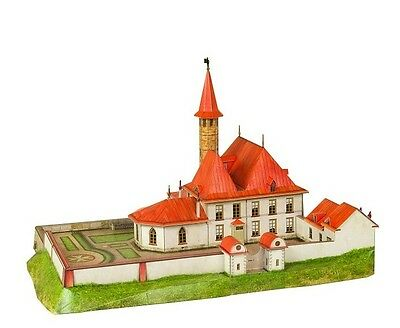 Cardboard model kit. Priory Palace of Pavel I in Gatchina.  1/100 scale.