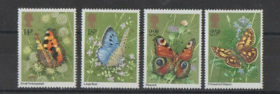 Butterflies Postage Stamps  (SG 1151-1154)