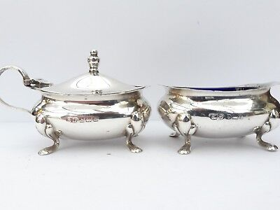solid silver condiment set