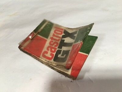 Castrol Service Due Tags Vintage Unused Book       Bottle Can Tin