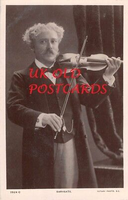 Musician - SARASATE, Spanish Violinist and Composer,  Playing Violin, Real Photo