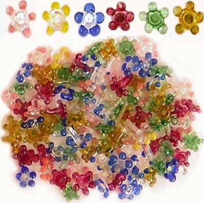 (100)Multicolor assorted Flower Glass Daisy Style Pipe Screens Lot Of 100