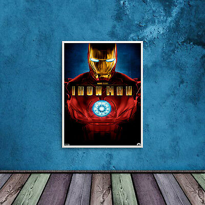 Iron Man Print Poster WallArt A6 A5 A4 A3 Movies Kids Films Cinema - 1021