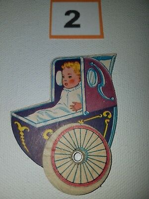 Cracker Jack Paper Baby Carriage type 1