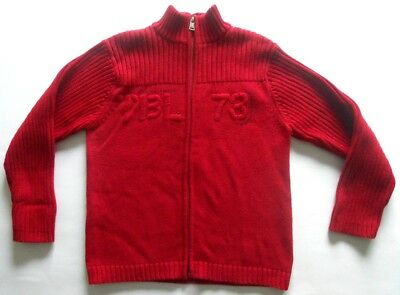 CARDIGAN marca TIMBERLAND anni 10 years SIZE sweatshirt SWEATER shirt ROSSO red