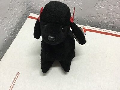 GiGi  the Black POODLE Dog - Ty Beanie Baby Buddy 1997 Retired Mint With Tags